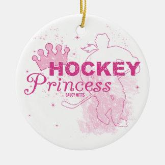 Hockey Princess Christmas Ornament