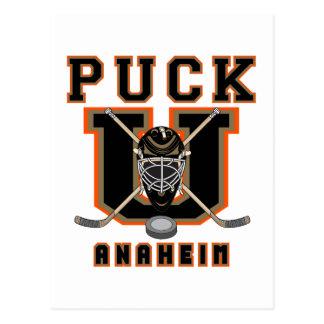 Hockey Puck Anaheim Post Cards