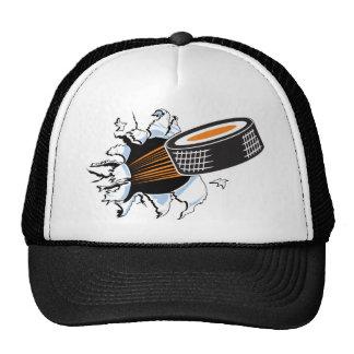 Hockey puck cap