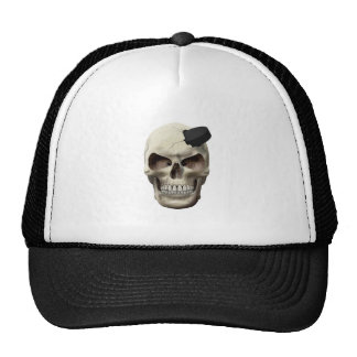 Hockey Puck in Skull Mesh Hats