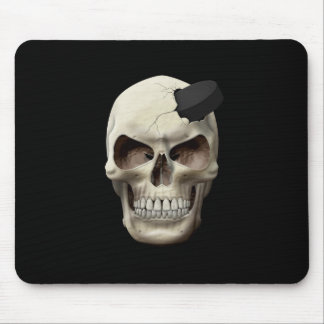 Hockey Puck in Skull Mousepads