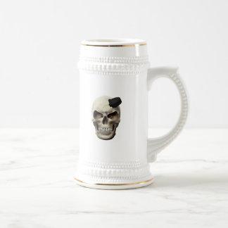 Hockey Puck in Skull Mug