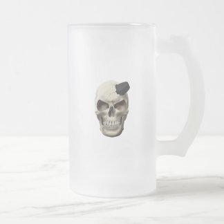 Hockey Puck in Skull Mugs