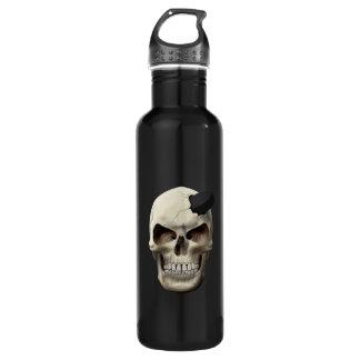Hockey Puck in Skull 710 Ml Water Bottle