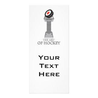 hockey puck on a pedestal personalised rack card