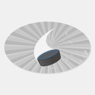 hockey puck oval sticker