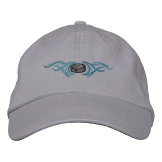 Hockey Puck Tribal Baseball Cap