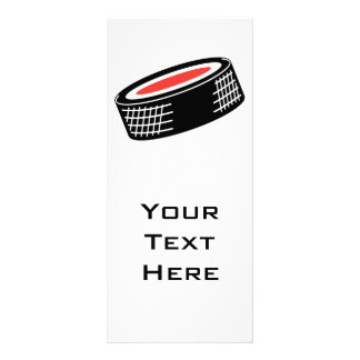 hockey puck vector design custom rack card