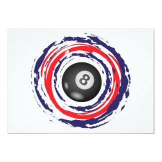 Hockey Red Blue And White 13 Cm X 18 Cm Invitation Card