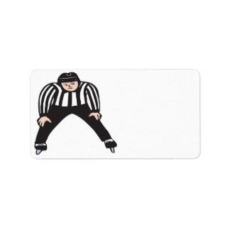 Hockey Referee Address Label