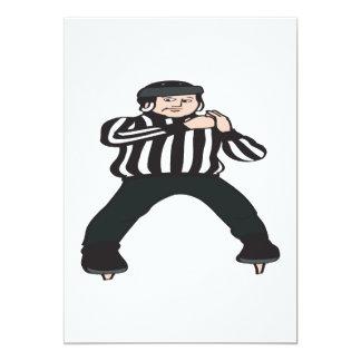 Hockey Referee 13 Cm X 18 Cm Invitation Card