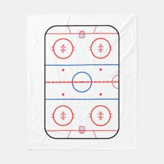 Hockey Rink Companion Autograph Ready Fleece Blanket