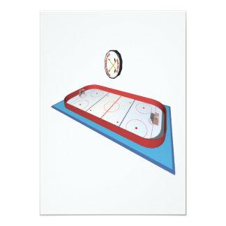 Hockey Rink 13 Cm X 18 Cm Invitation Card