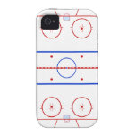 Hockey Rink Vibe iPhone 4 Cover