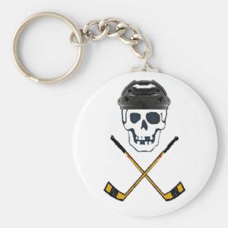 Hockey Roger BIG Basic Round Button Key Ring