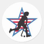 hockey round sticker