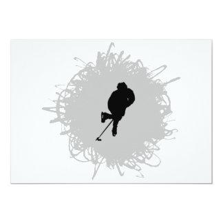 Hockey Scribble Style 13 Cm X 18 Cm Invitation Card