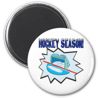 Hockey Season 6 Cm Round Magnet