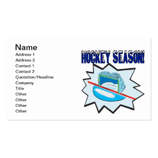 Hockey Season Pack Of Standard Business Cards