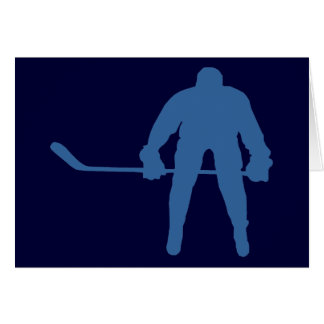 Hockey Silhouette Note Cards Greeting Card