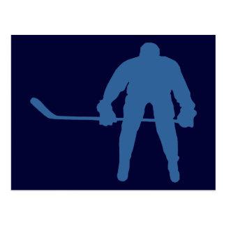 Hockey Silhouette Postcards Post Card