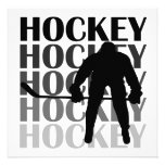 Hockey Silhouette T-shirts and Gifts Personalized Announcement