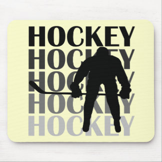 Hockey Silhouette T-shirts and Gifts Mouse Mat