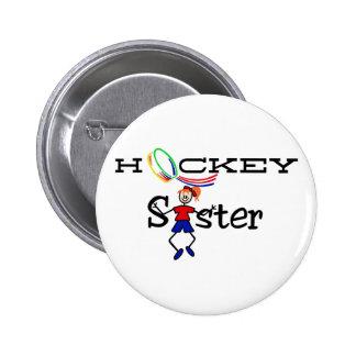 Hockey Sister 6 Cm Round Badge
