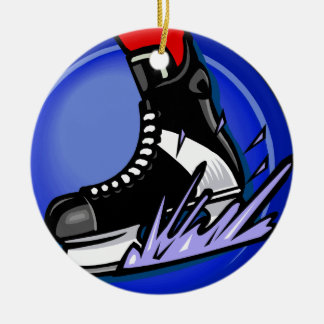 Hockey Skate Christmas Ornament