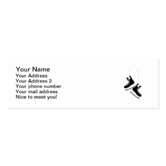 Hockey skates business card template