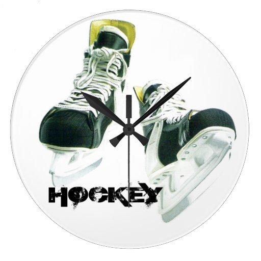 Hockey Skates Round Clocks