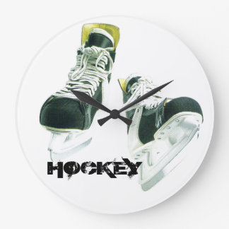 Hockey Skates Large Clock