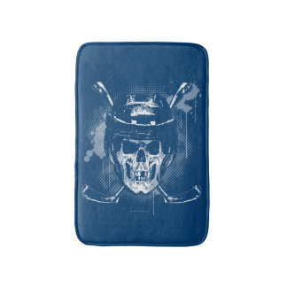 Hockey Skull Bath Mat