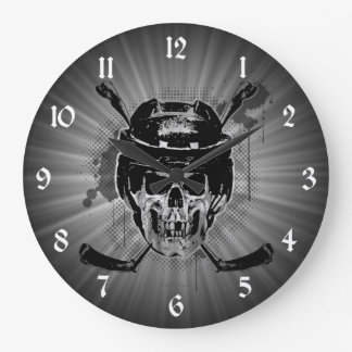 Hockey Skull Clocks