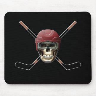 Hockey Skull Crossed Sticks Mousepads
