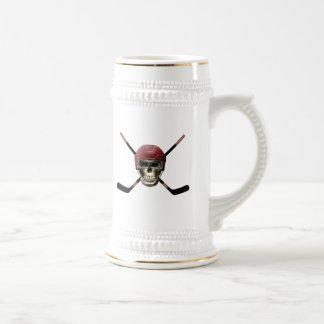 Hockey Skull & Crossed Sticks Mug