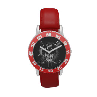 Hockey Skull Wrist Watch