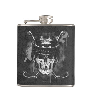 Hockey Skull Flask
