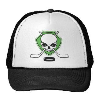 hockey skull mesh hat