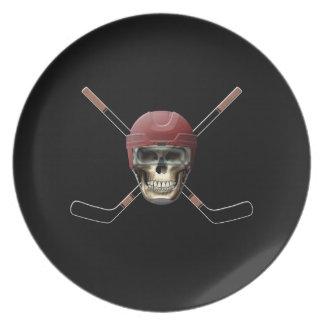 Hockey Skull Helm Plate