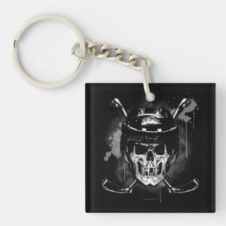 Hockey Skull Key Ring