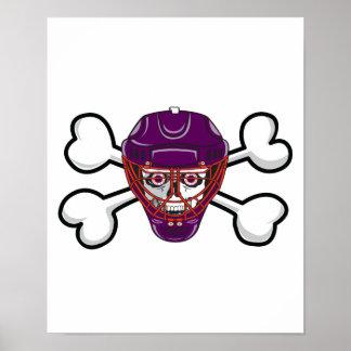hockey skull mask Skull and Crossbones Poster