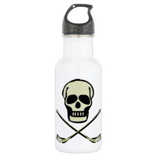 Hockey Skull 18oz Water Bottle
