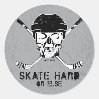 Hockey Skull Round Sticker