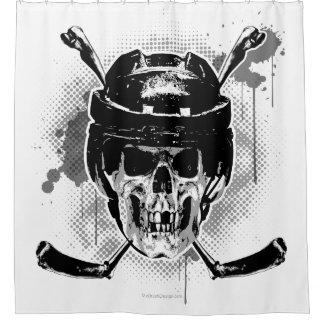 Hockey Skull Shower Curtain