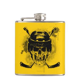 Hockey Skull Flask