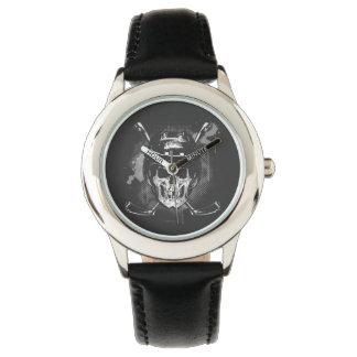 Hockey Skull Wrist Watches