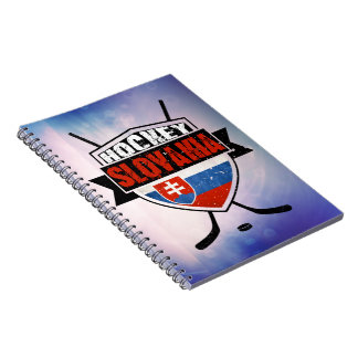 Hockey Slovakia Flag Design Spiral Notebook