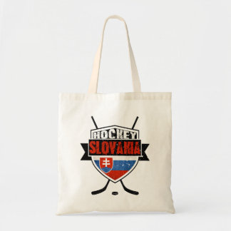 Hockey Slovakia Flag Grocery Bag