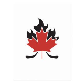 hockey stick cross postcard